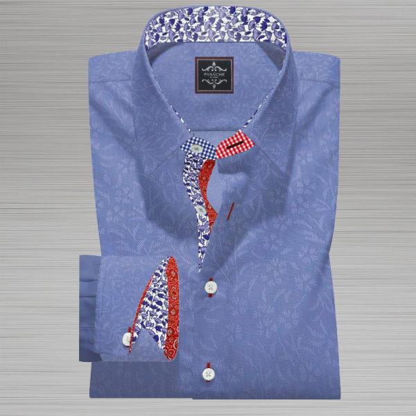 Light Blue Self Floral Shirt