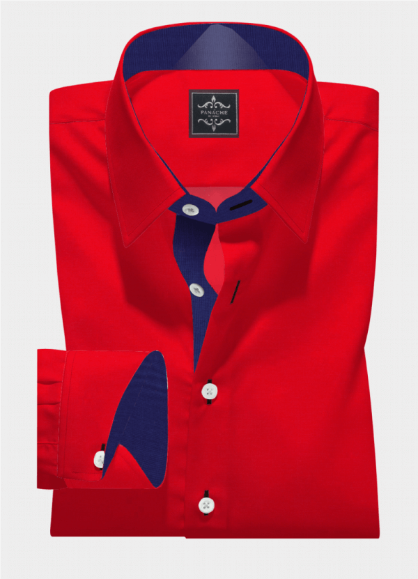 Red Plain Broadcloth Shirt