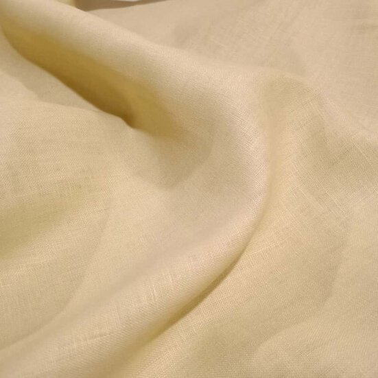 Beige linen shirt fabric