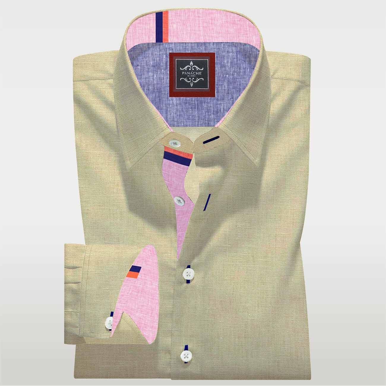 Luxury Beige Linen Shirt