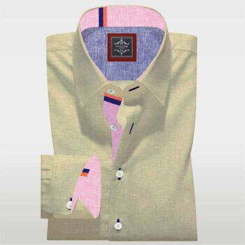 Luxury Beige Linen Shirt