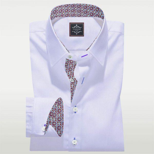 White Egyptian cotton Twill Shirt