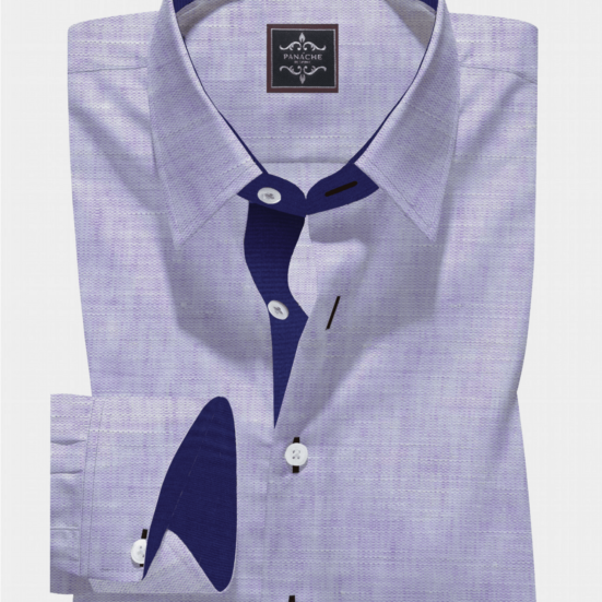 Redondo Purple Linen Shirt