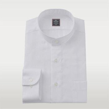 White Broadcloth Band Shirt
