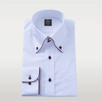 White Broadcloth Shirt Button Down