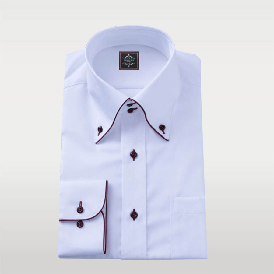 White Broadcloth Shirt Button Down