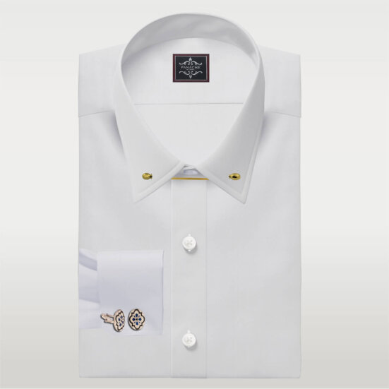 Pin collar shirt