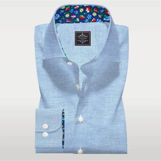 Turquoise Linen shirt 3