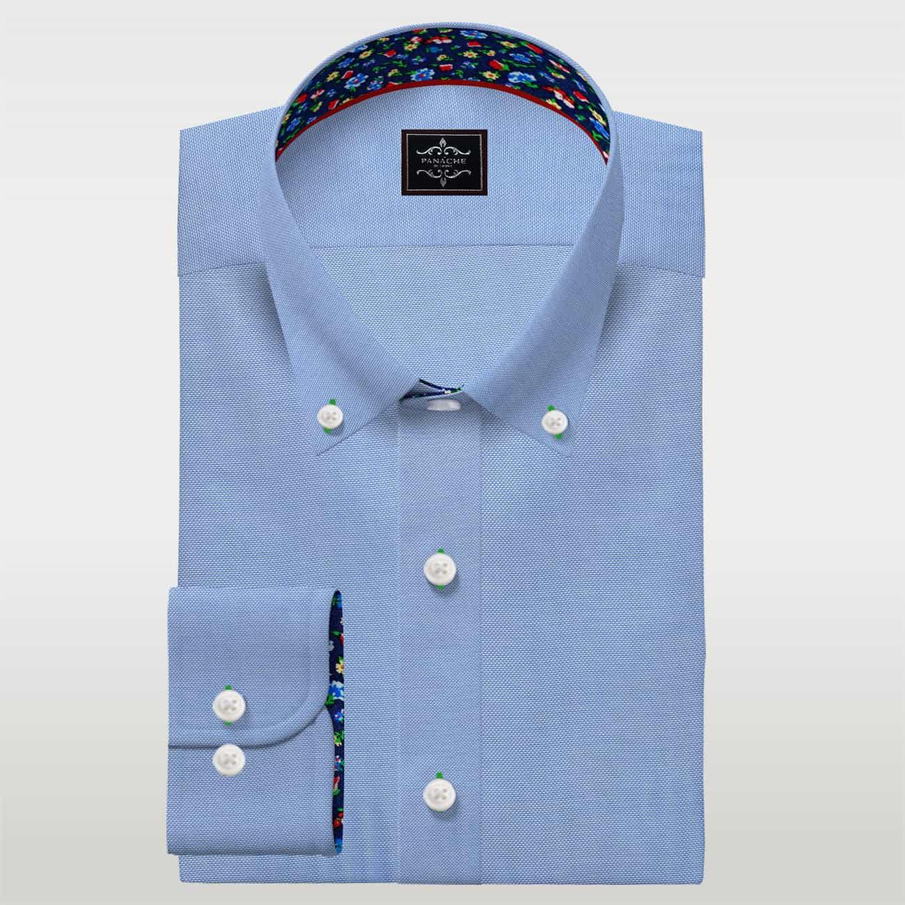 Light Blue Shirt / Mens Blue ButtonUp Shirt