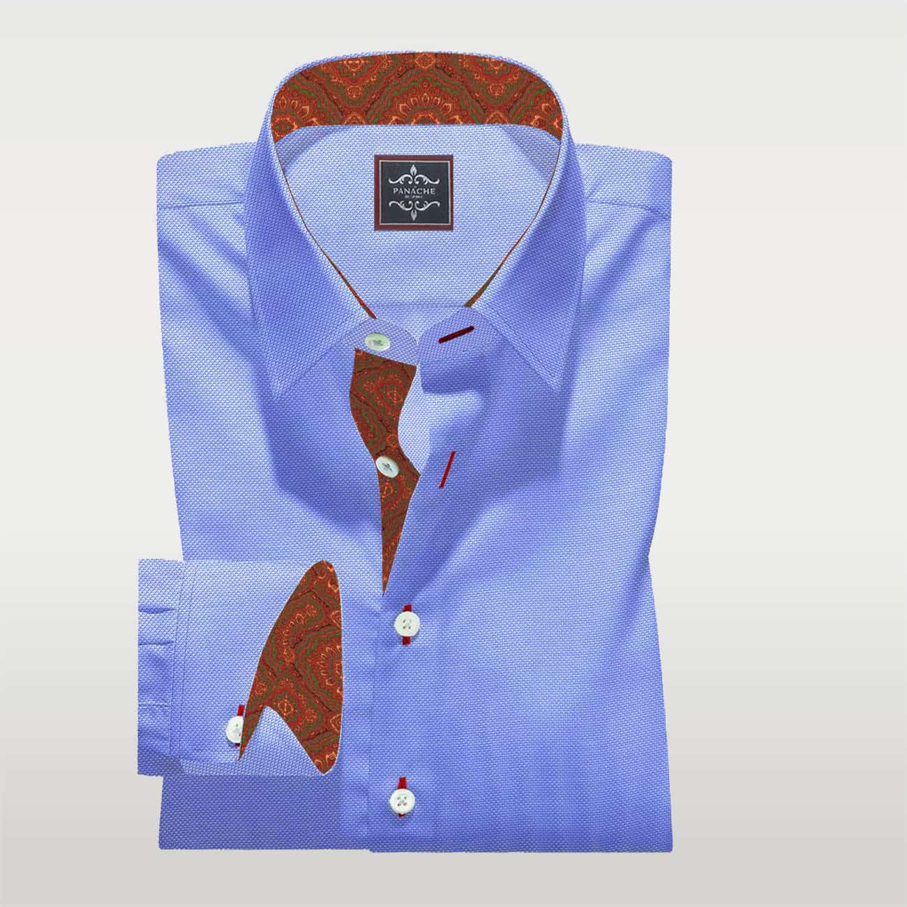 Light Blue Custom-Made Shirt
