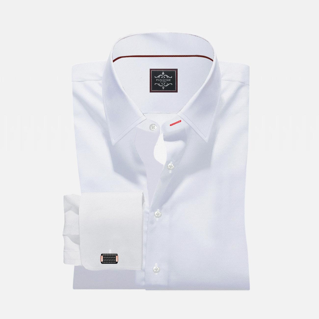 Luxury White Custom Made Royal Oxford Shirt