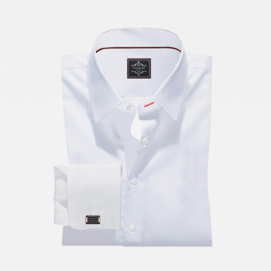Luxury White Custom Made Royal Oxford Shirt