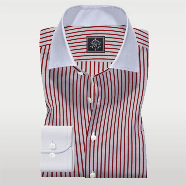 Red and White Stripes Shirt