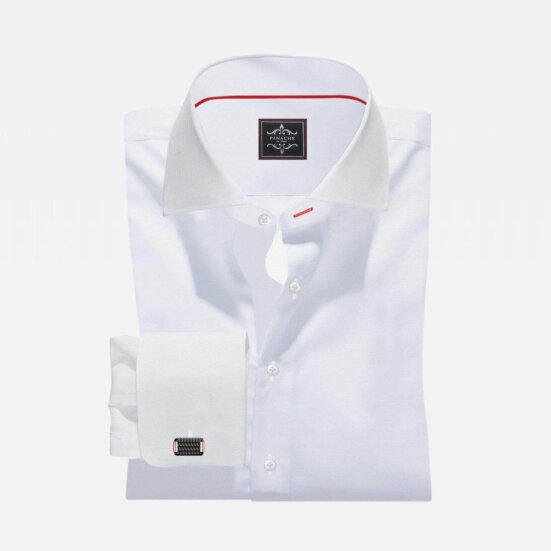 White Custom Made Shirt