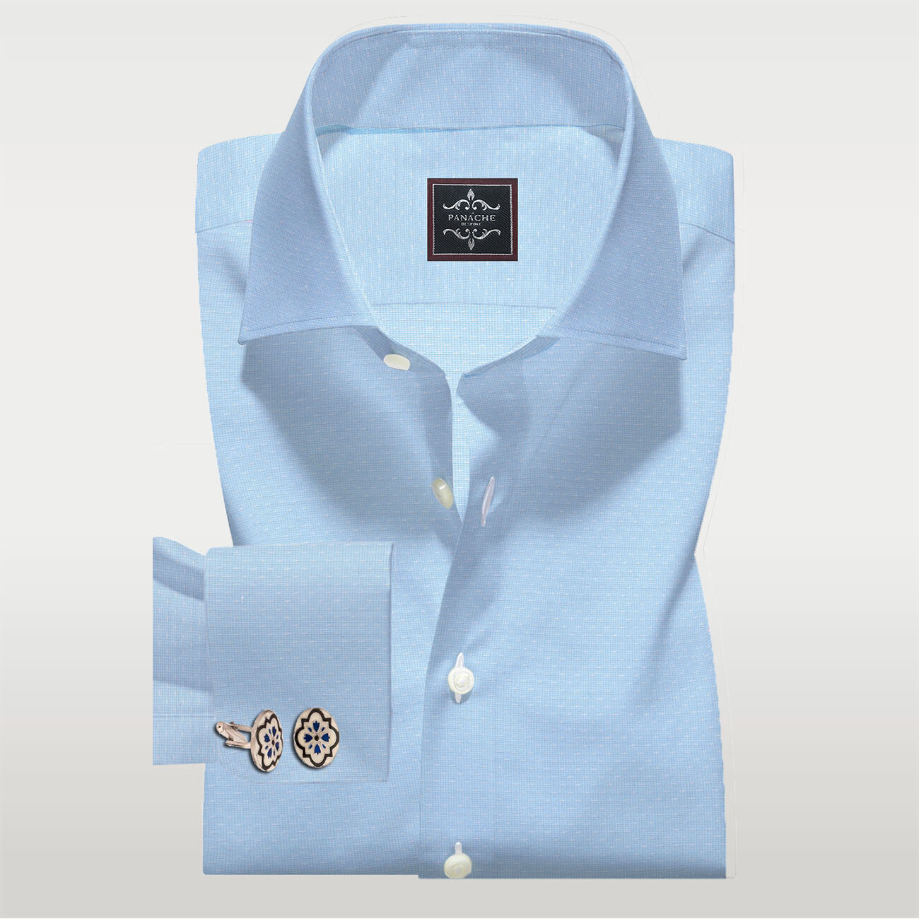 Sky Blue Self Shirt