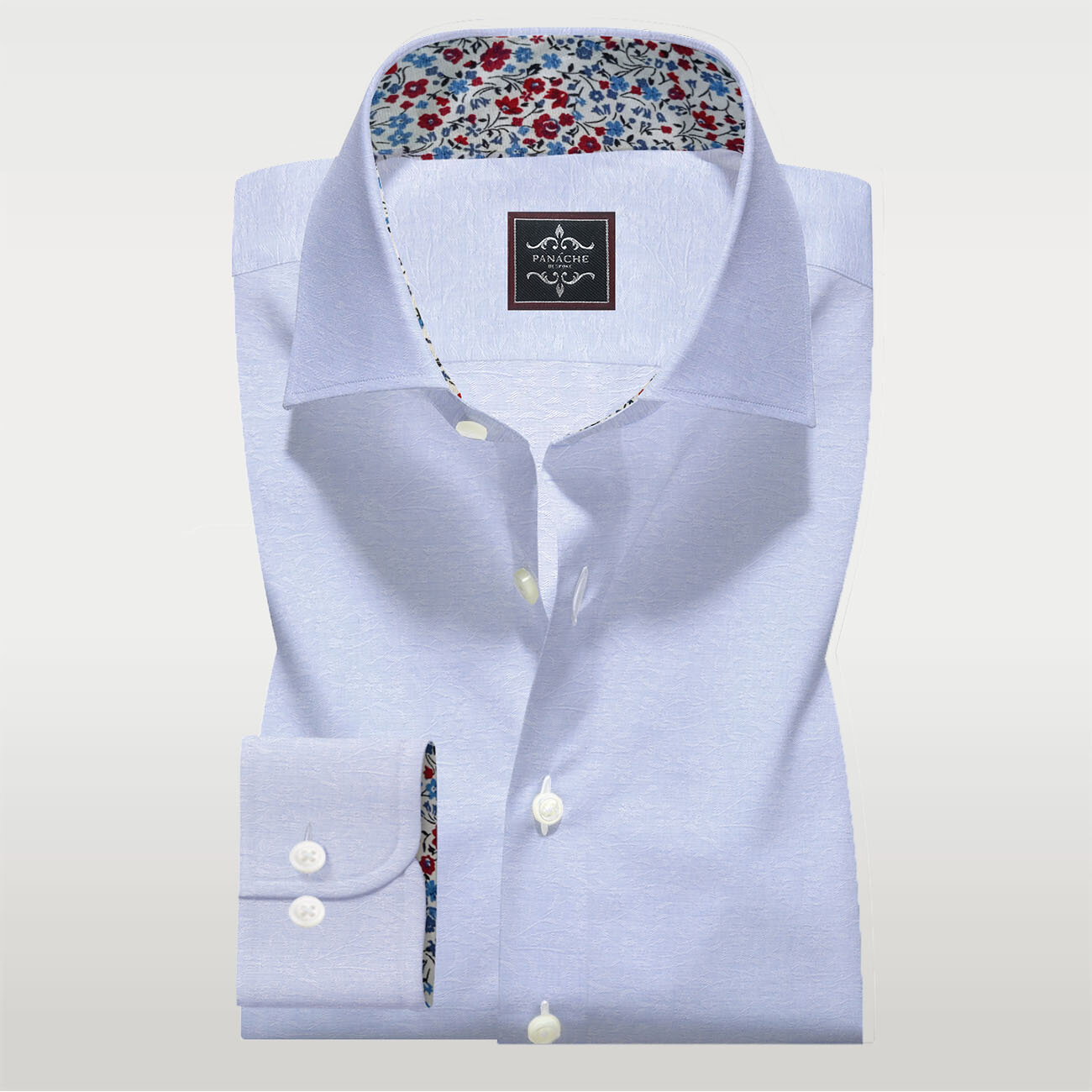Light Blue Self Shirt | Mens dress shirts