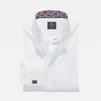 White Custom Made Button-Down