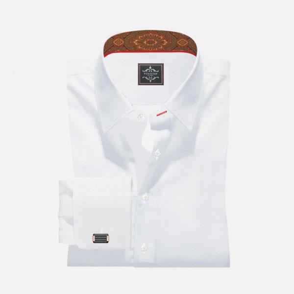 Luxury Twill White Shirt