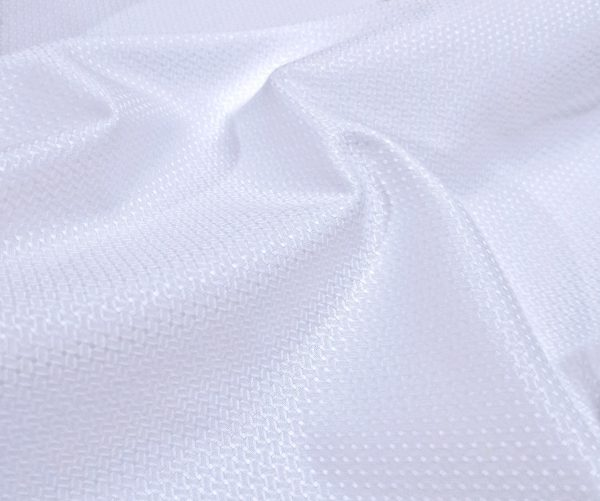 White self texture Shirt with Zigzag weave