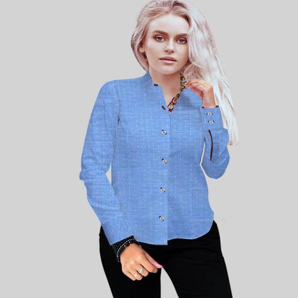 Light Blue Self Shirt