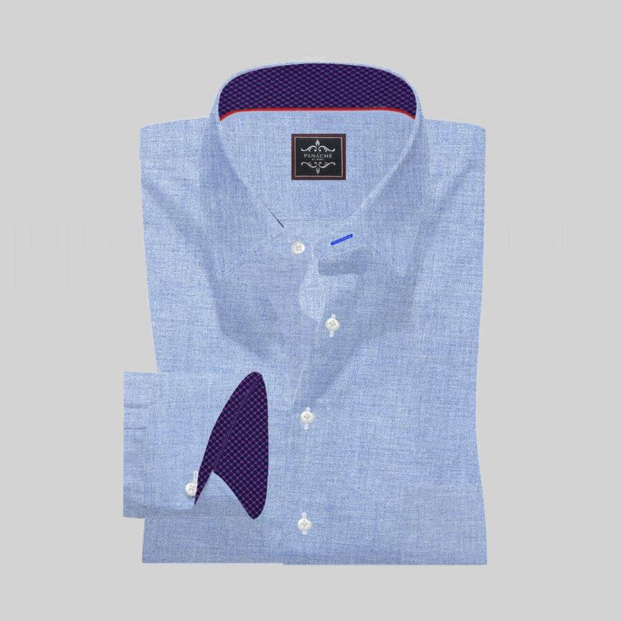Grey Twill Flannel Shirt Mens grey dress shirt