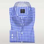 Blue and White Check mens shirts