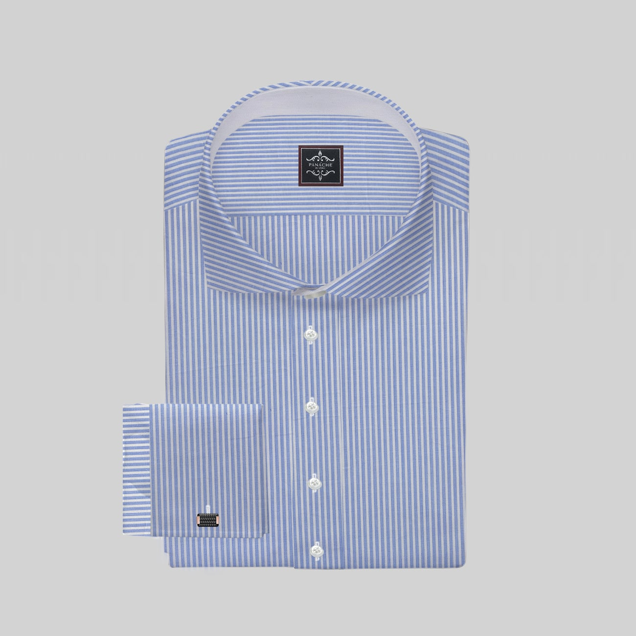 Light Blue Small Stripes
