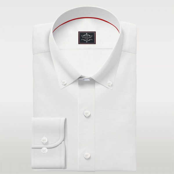 Luxury White Linen Button Down Shirt   Mens Custom Buttoned Shirt