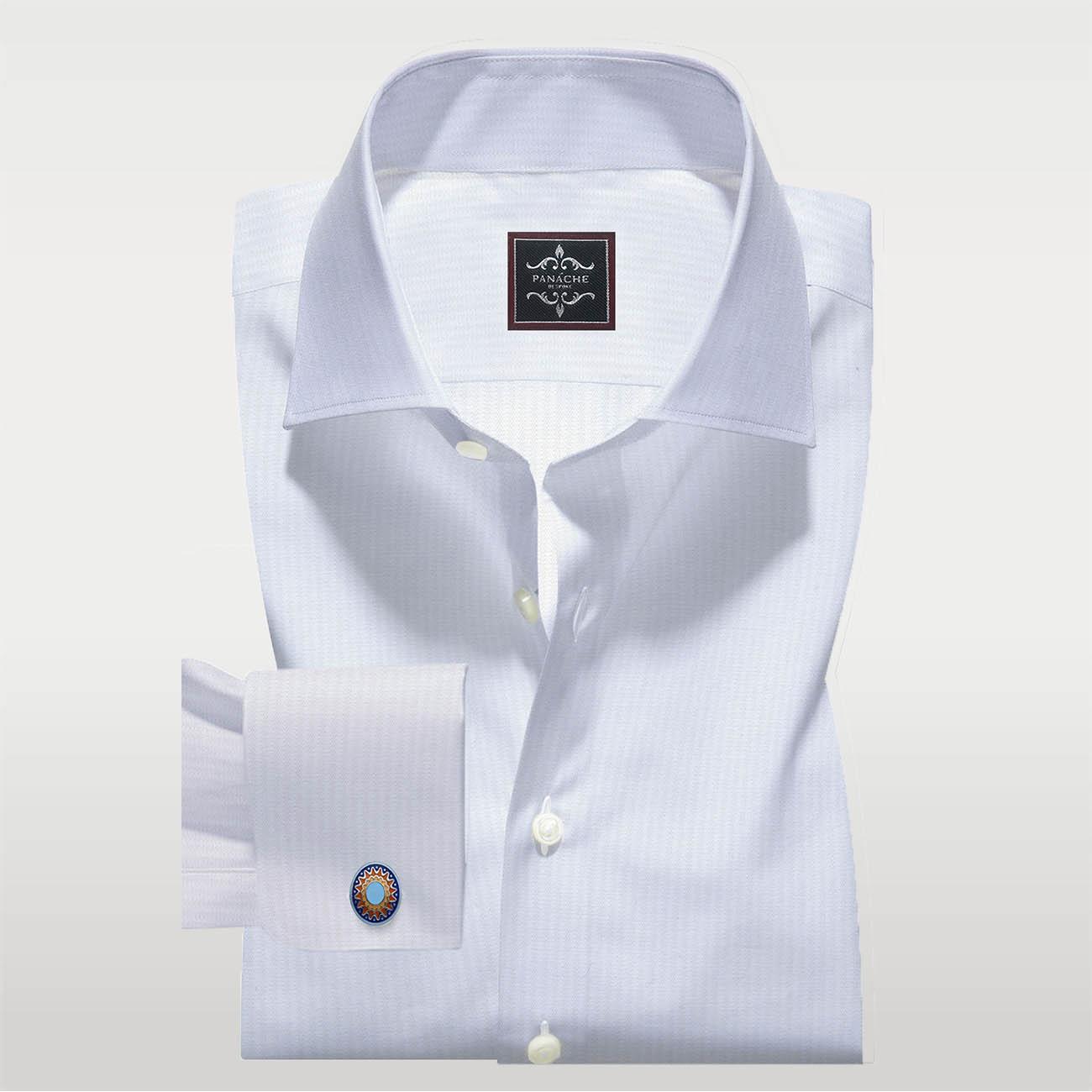 Luxury White Dobby Shirt