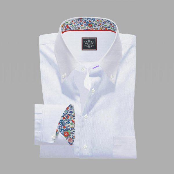 White-Twill Egyptian Cotton Shirt