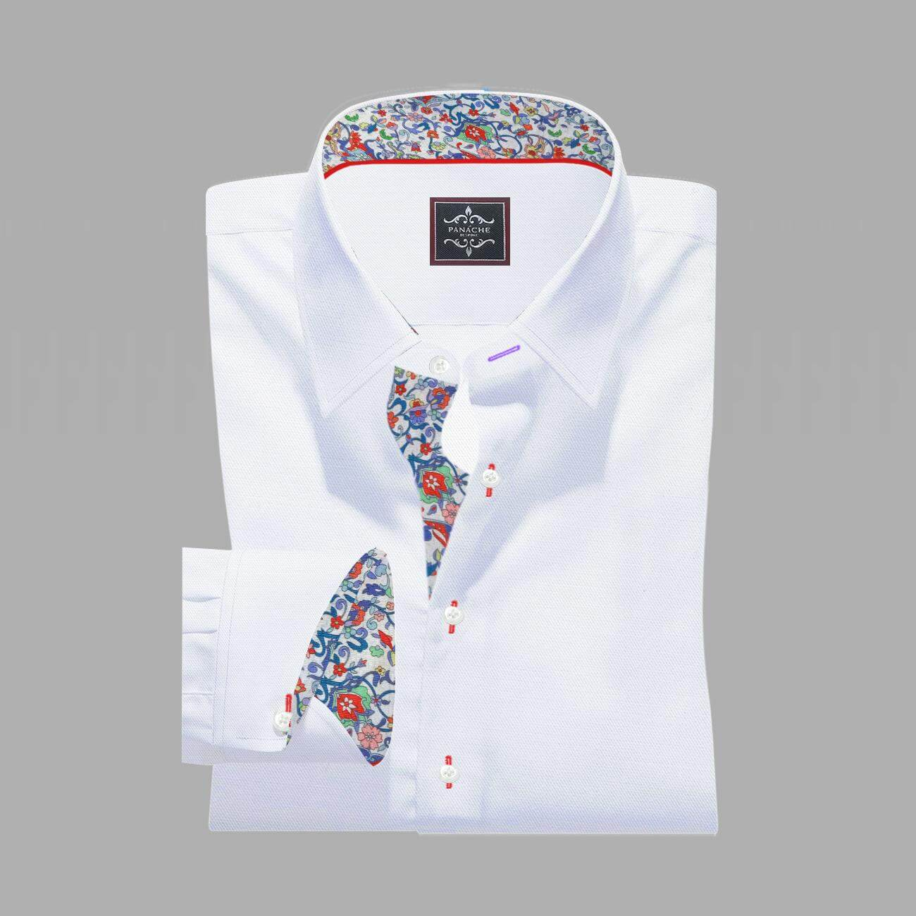 Luxury-White Twill Egyptian Cotton-Shirt