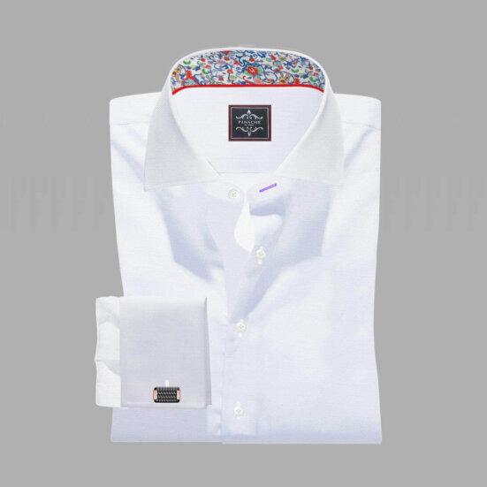 Luxury White Twill Shirt