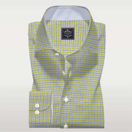 Yellow Check Twill Shirt