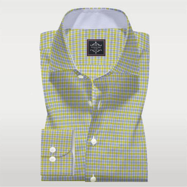 Yellow Check Twill Shirt