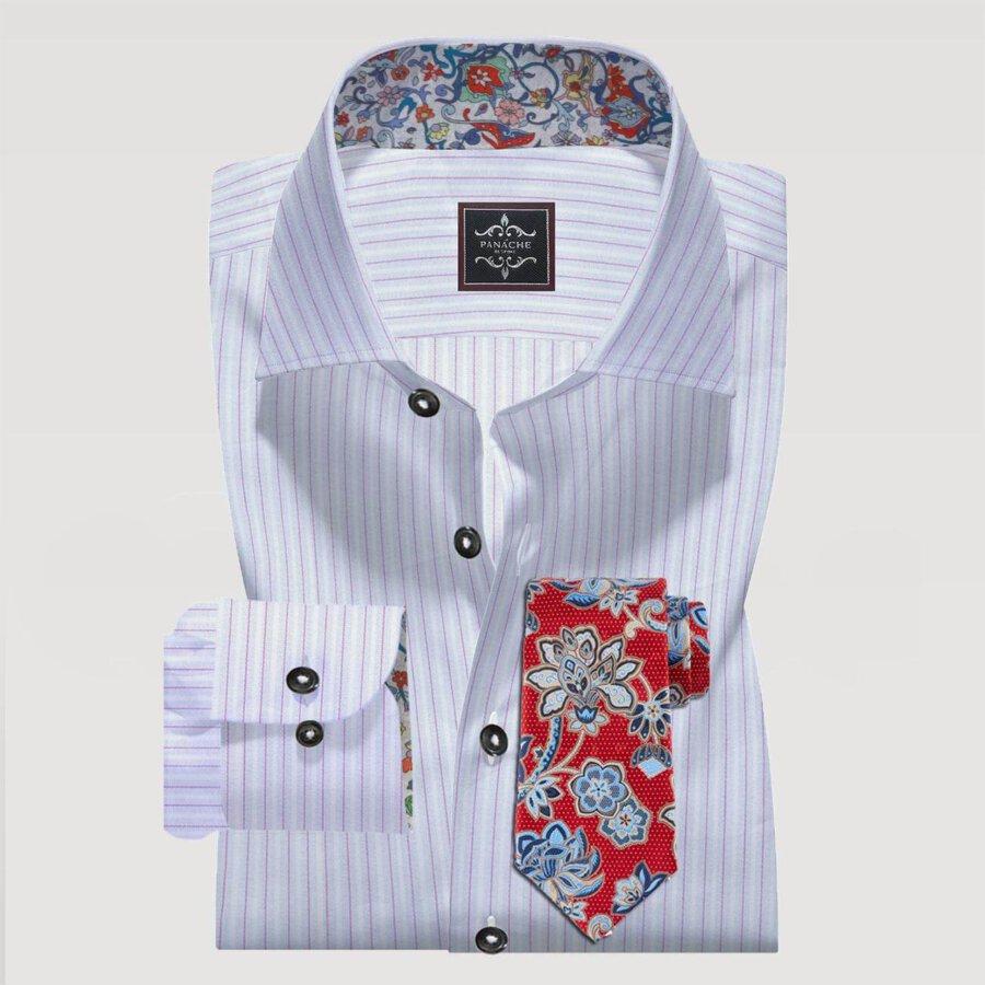 Purple Pin Stripes Shirt