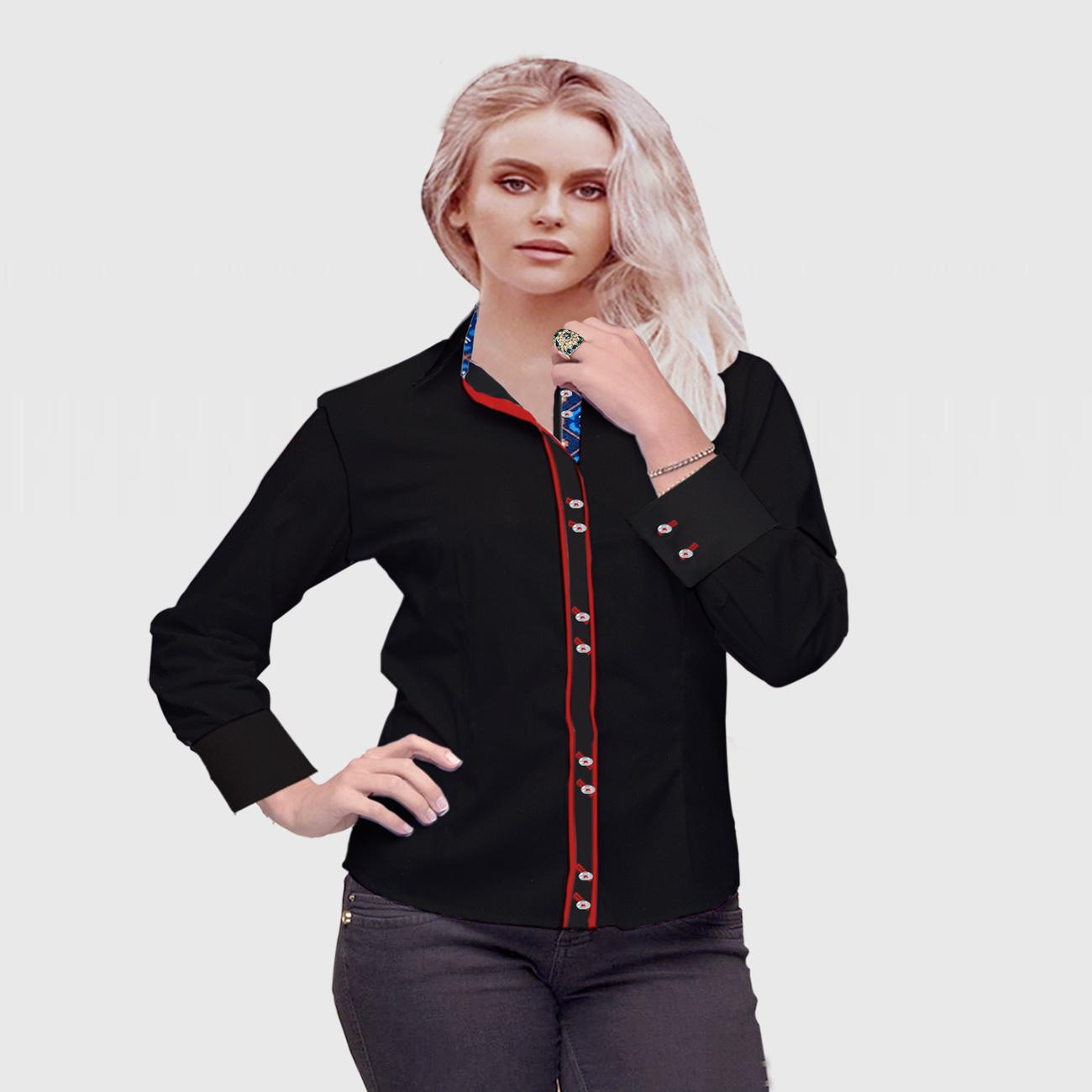 Luxury Black Broadcloth Shirt