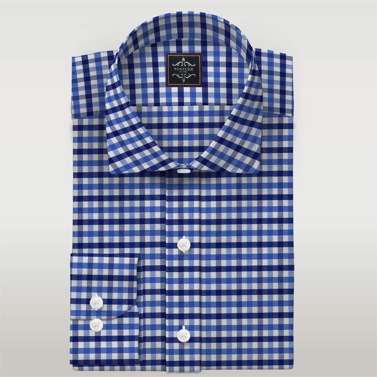 Multi Color Check Poplin Custom Made Shirt Mens Custom Dress Online Shirts