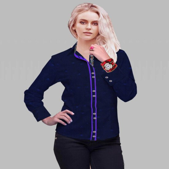 Navy Broadcloth Shirt