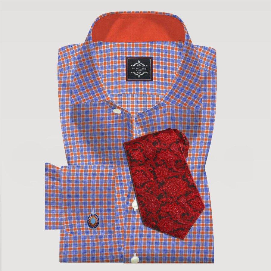 Orange Checked Shirt