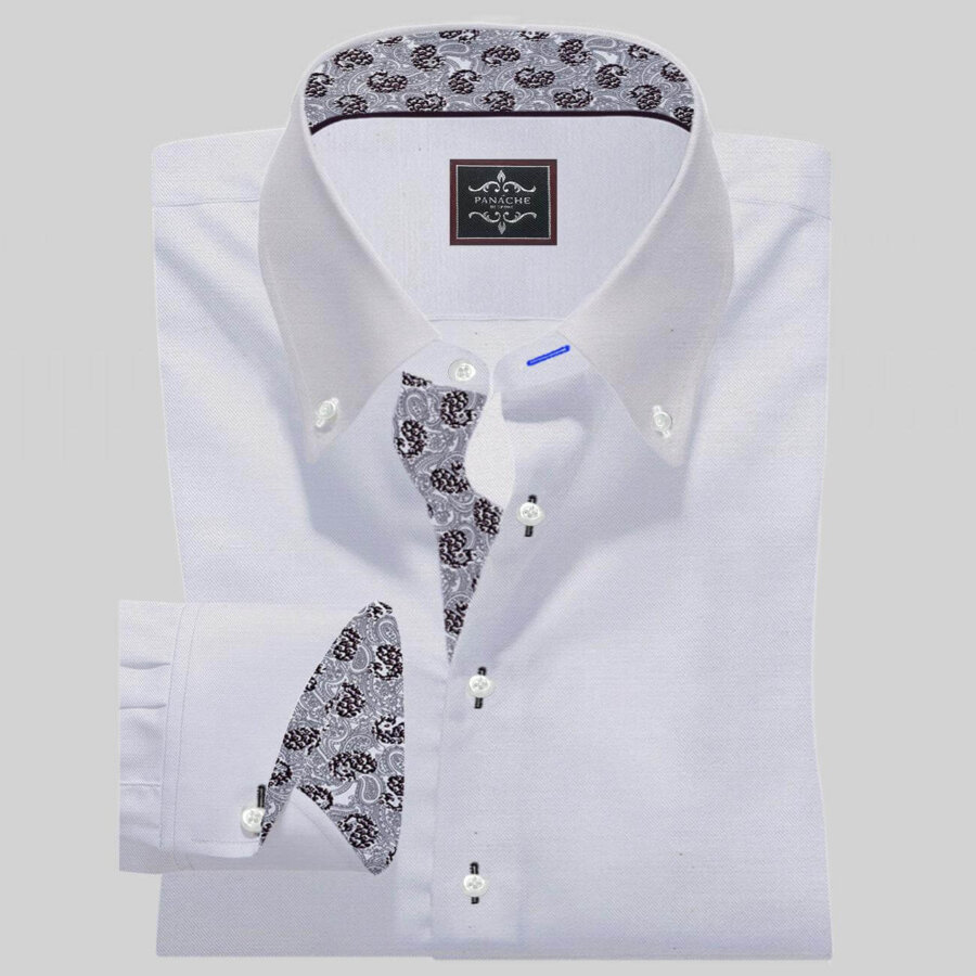 white button down shirt Mens Custom Button Up Shirt