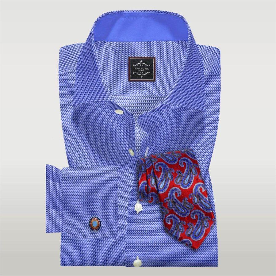 Custom Made Blue Dobby Shirt