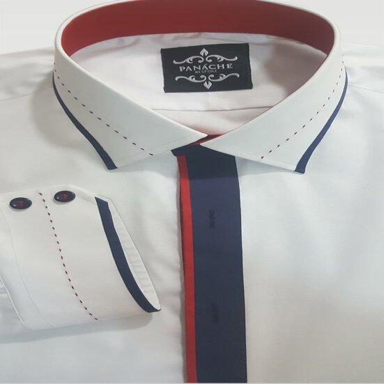 Luxury White Custom Made Shirt Mens Fashion Dress Shirt
