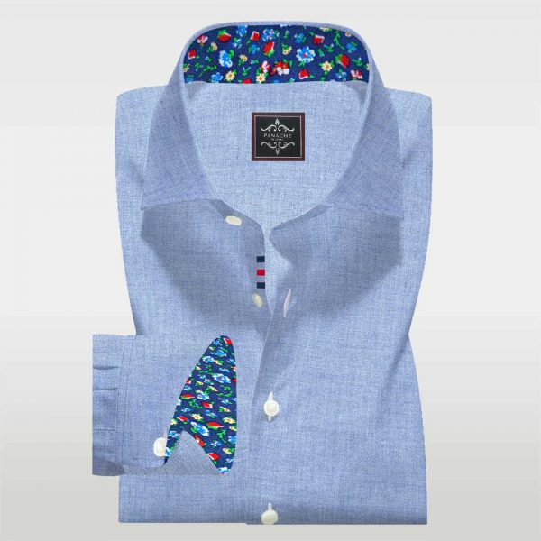 Grayish Blue Flannel Shirt Mens Blue Dress Shirts