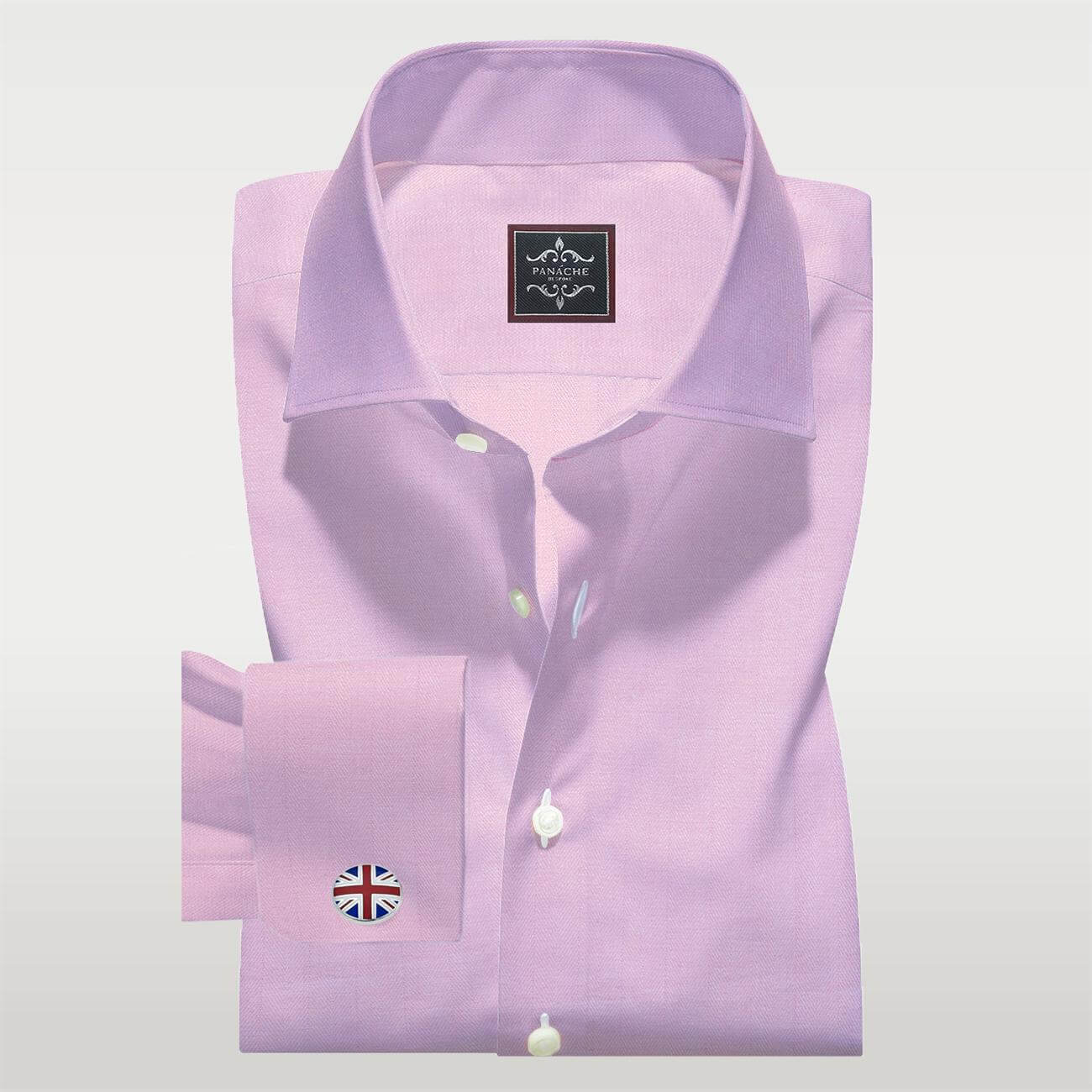 Royal Pink Herringbone Shirt