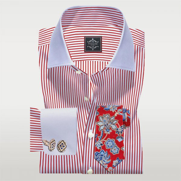 Red Stripes Custom Made Shirt
