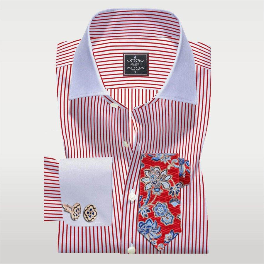 Red Stripes Custom Made Shirt