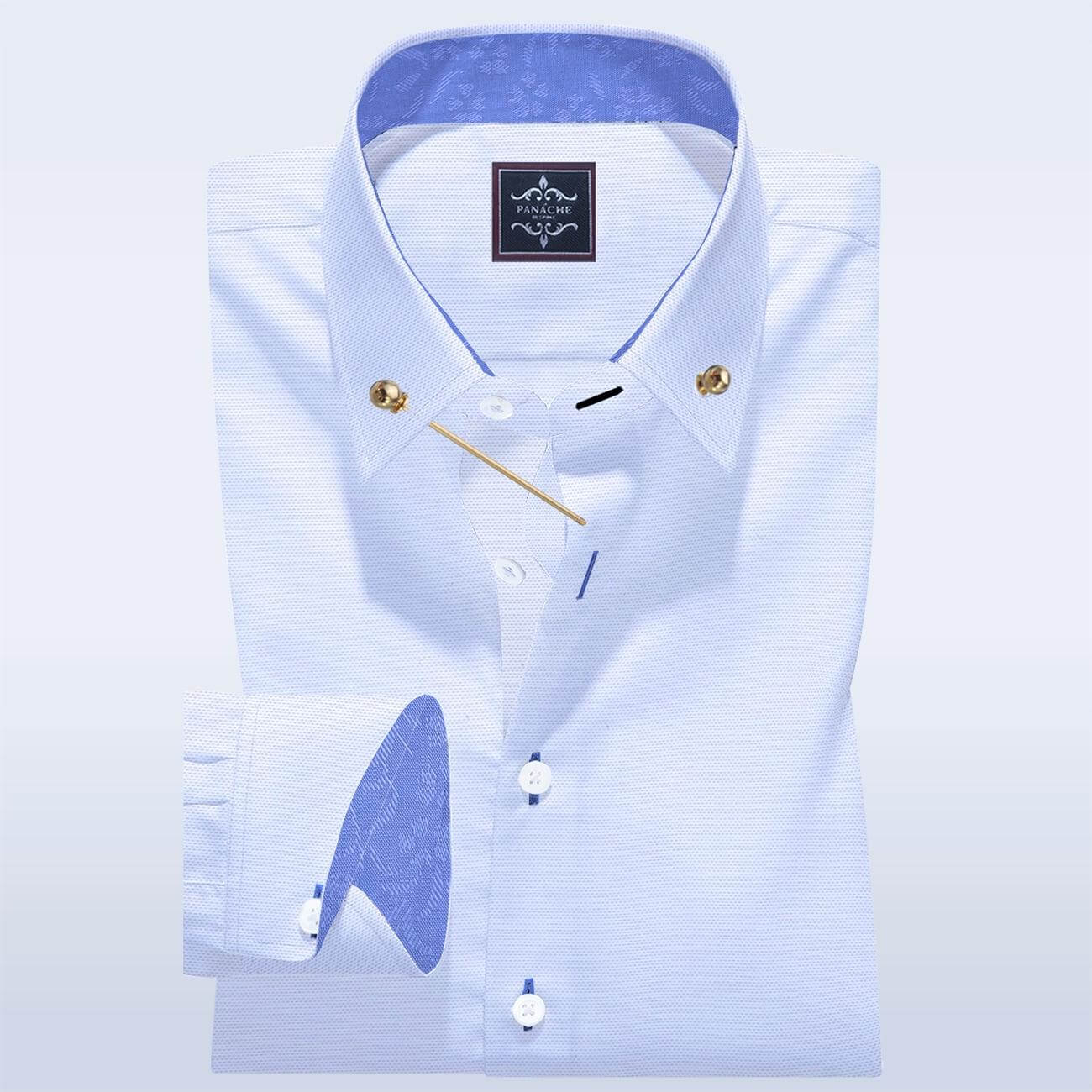 Pin Collar White Oxford Shirt