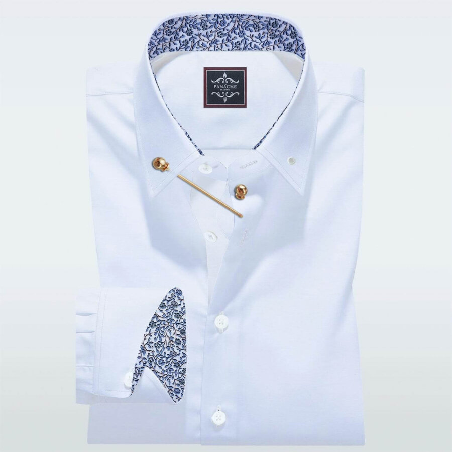 pin collar shirt