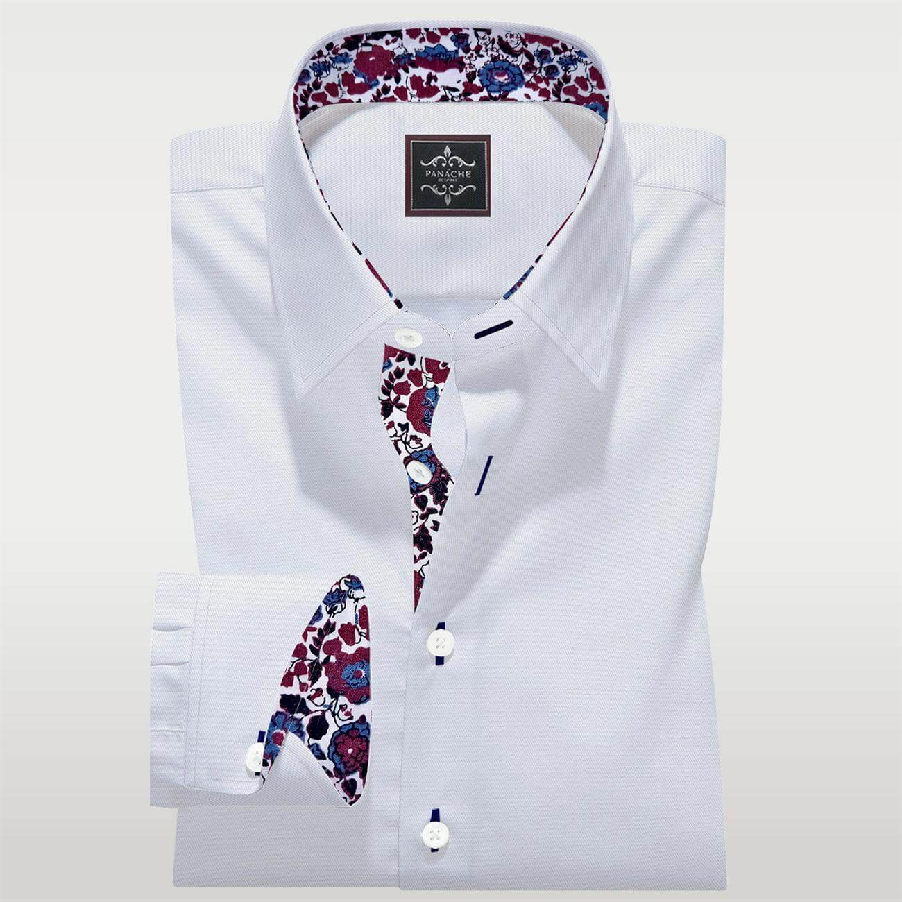 Luxury White Tailor Made Shirt