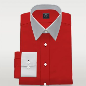 Luxury Red Custom Made Poplin Shirt